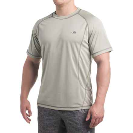 Alo Tranquility T-Shirt - Short Sleeve (For Men) in Cement - Closeouts