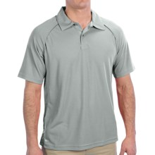 Alo Wicking Raglan Polo Shirt - Short Sleeve (For Men) in Grey/White - Closeouts