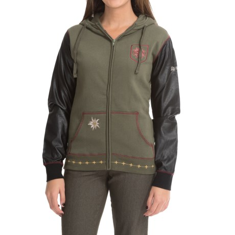 Alp n Rock Alpine Vintage Hoodie Full Zip (For Women)