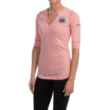 Alp-n-Rock Beautiful Ride Shirt - Organic Cotton Jersey, 3/4 Sleeve (For Women) in Seashell - Closeouts