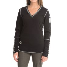 Alp-n-Rock Classic Ski Shirt - V-Neck, Long Sleeve (For Women) in Black - Closeouts