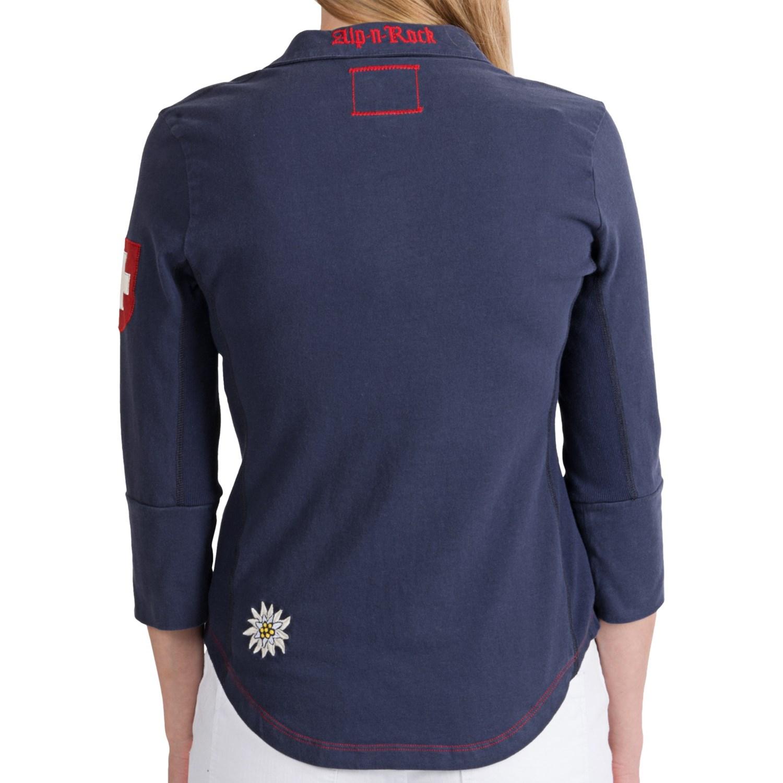 Alp n rock cotton knit button up shirt for women 7691f for Cotton button up shirt