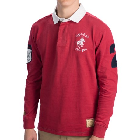Alp-n-Rock Rugby Shirt - Cotton, Long Sleeve (For Men) in Courchevel Red