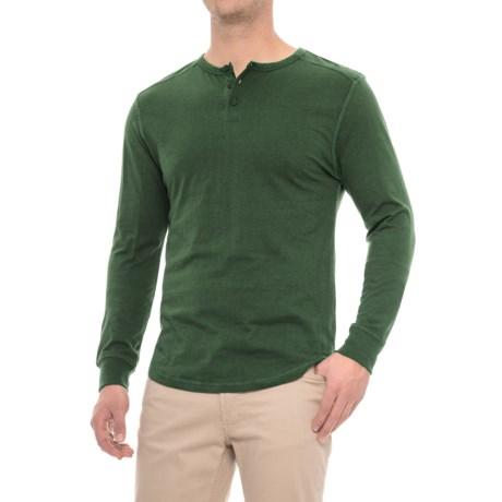Alpha Beta Henley Shirt - Long Sleeve (For Men) in Dark Green