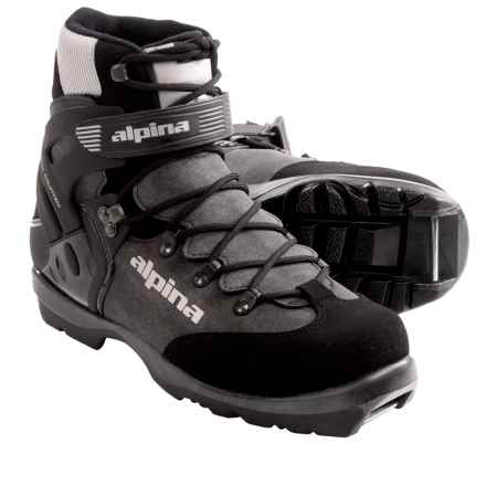 Alpina BC 1550 Backcountry Ski Boots - Insulated, NNN BC (For Men and Women) in Charcoal/Silver - Closeouts