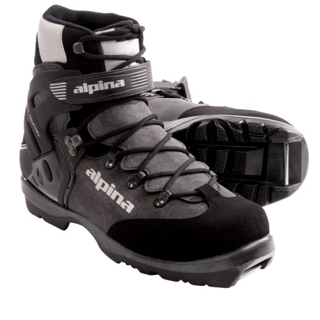 Alpina BC 1550 Backcountry Ski Boots - Insulated, NNN BC (For Men and Women) in Charcoal/Silver