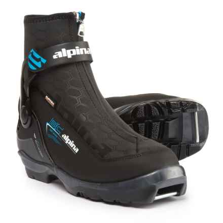 Alpina Outlander Eve Backcountry Nordic Ski Boots - Insulated, NNN BC (For Women) in Black/Blue - Overstock