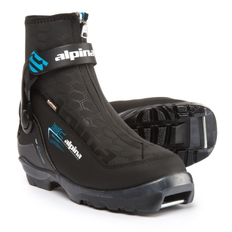 Alpina Outlander Eve Backcountry Nordic Ski Boots - Insulated, NNN BC (For Women) in Black/Blue