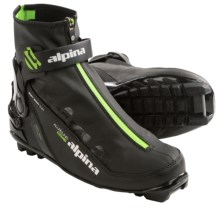 Alpina S Combi Sport Ski Boots -Insulated, NNN (For Men and Women) in Black/Green/White - Closeouts