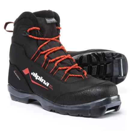 Alpina Snowfield Backcountry Nordic Ski Boots - NNN BC, Waterproof, Insulated (For Men) in Black/Orange - Overstock