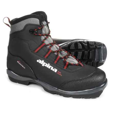 Alpina Snowfield Nordic Backcountry Ski Boots (For Men) in Black/White/Red - Overstock