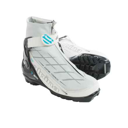 Alpina T30 Eve Touring Ski Boots - NNN (For Women) in White/Black/Grey - Closeouts