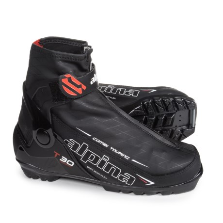 Alpina T30 Touring Nordic Ski Boots (For Men and Women) in Black