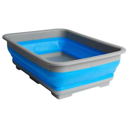 Alpine Mountain Gear Collapsible Silicone Wash Basin in Blue - Closeouts