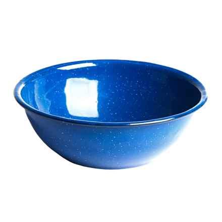 """Alpine Mountain Gear Enamel Bowl - 6"""" in Blue - Closeouts"""
