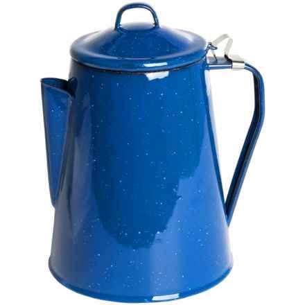 Alpine Mountain Gear Enamel Coffee Percolator - 8-Cup in Blue - Closeouts