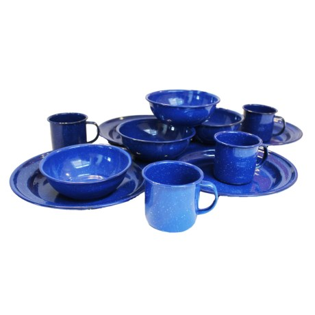 Alpine Mountain Gear Enamel Tableware Set 4 Person