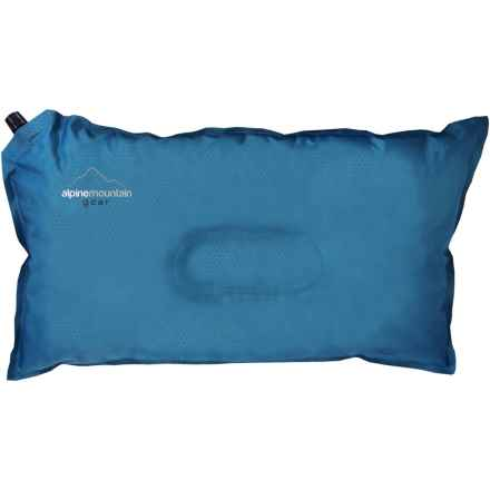 Alpine Mountain Gear Self-Inflating Camp Pillow in Blue - Closeouts
