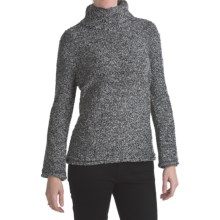 ALPS Annalise Tweed Turtleneck Sweater (For Women) in Raven - Closeouts