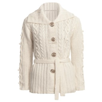 ALPS Anniker Cardigan Sweater (For Women) in Aran