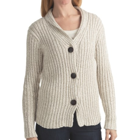 ALPS Briana Cardigan Sweater - Shawl Collar (For Women) in Jute