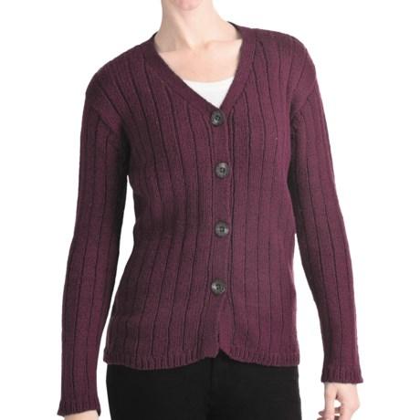 ALPS Bristlecone Cardigan Sweater - Cotton (For Women) in Wine