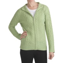ALPS Cortina Cable-Knit Cardigan Sweater (For Women) in Vine - Closeouts