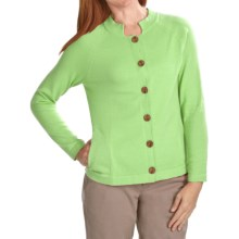ALPS Kristen Cardigan Sweater - Cotton (For Women) in Spring Green - Closeouts