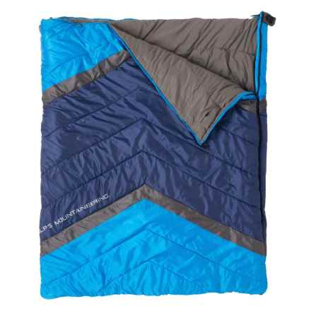 ALPS Mountaineering 20°F Mirror Creek Double Sleeping Bag - Rectangular in Light Blue/Navy/Charcoal - Closeouts