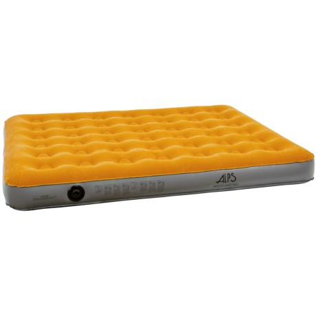ALPS Mountaineering Air Bed - Queen, Rechargeable Pump in Rust/Grey