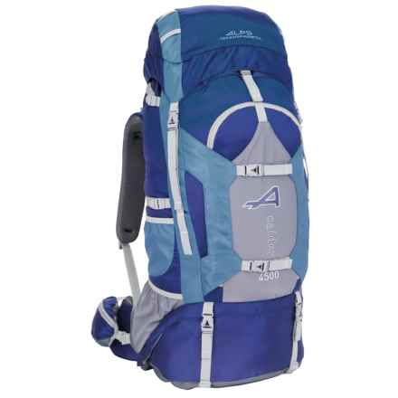 ALPS Mountaineering Caldera 4500 Backpack - 74L,  Internal Frame in Blue - Closeouts