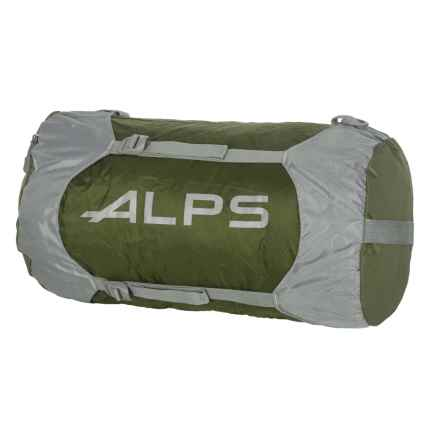 ALPS Mountaineering Compression Stuff Sack - Large in Olive/Grey/Grey Logo - Closeouts