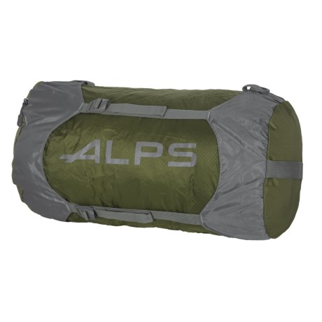 ALPS Mountaineering Compression Stuff Sack - Large in Olive/Gunmetal/Grey Logo