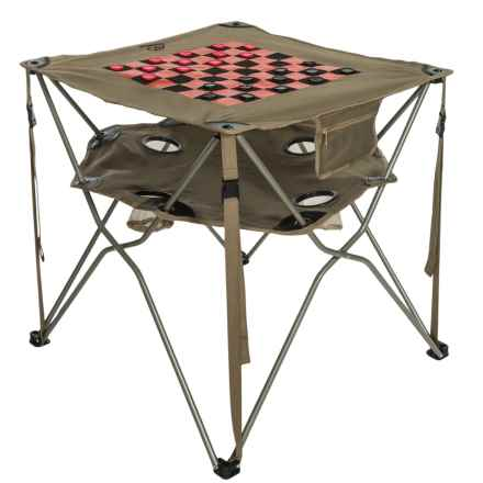 ALPS Mountaineering Eclipse Table - Checkerboard Top in Khaki - Closeouts