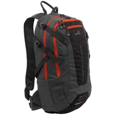 ALPS Mountaineering Hydro Trail 15L Hydration Pack - 100 fl.oz. in Charcoal/Chilli - Closeouts