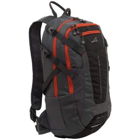 ALPS Mountaineering Hydro Trail 15L Hydration Pack - 100 fl.oz. in Charcoal/Chilli