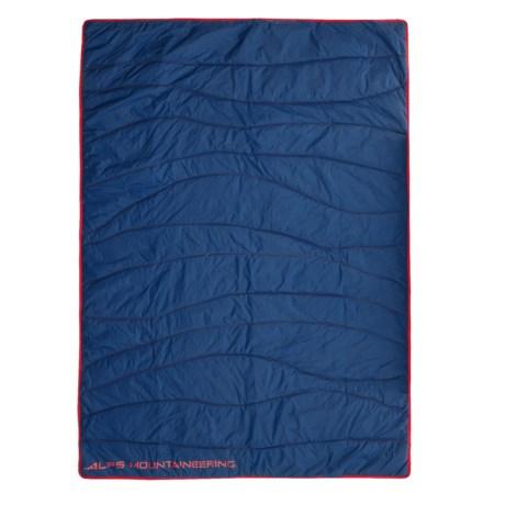 "ALPS Mountaineering Mountaineering Stargaze Throw Blanket - 50x70"" in Poseidon/Fiery Red"