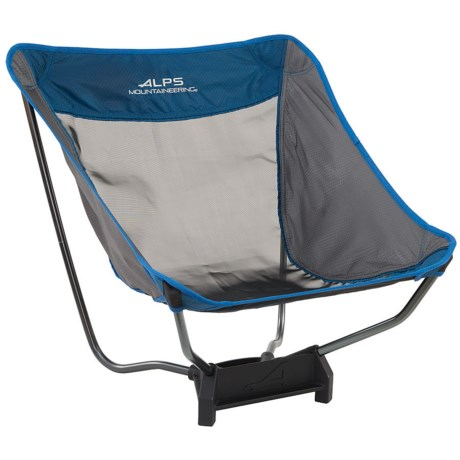 ALPS Mountaineering Ready Lite Low Camping Chair in Gray/Blue