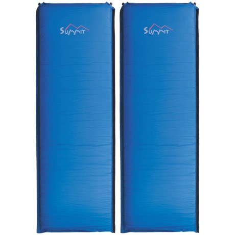 ALPS Mountaineering Summit Sleeping Pads - Self-Inflating, Set of 2 in Blue