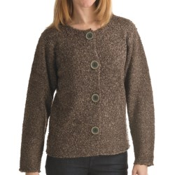 ALPS Palomas Boucle Cardigan Sweater (For Women) in Eucalyptus