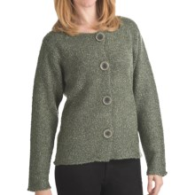 ALPS Palomas Boucle Cardigan Sweater (For Women) in Eucalyptus - Closeouts