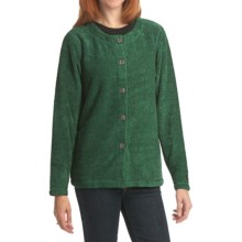 ALPS Shady Glen Cardigan Sweater - Boucle Fleece (For Women) in Emerald - Closeouts