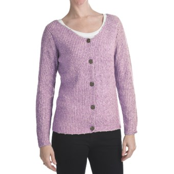 ALPS Soft Focus Cardigan Sweater (For Women) in Orchid