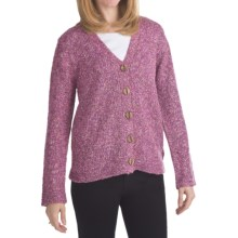 ALPS Songbird Tweed Cardigan Sweater (For Women) in Primrose - Closeouts