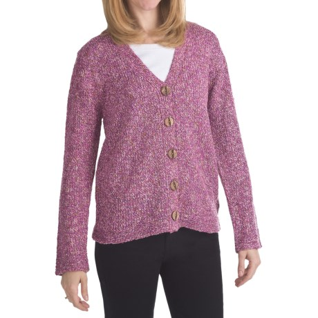 ALPS Songbird Tweed Cardigan Sweater (For Women) in Primrose
