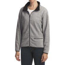 ALPS Spindrift Overdyed Fleece Jacket - Mock Neck (For Women) in Silver Cloud - Closeouts