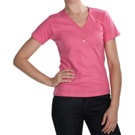 ALPS Tory T-Shirt - Stretch Cotton, Short Sleeve (For Women) in Cerise