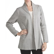 ALPS Wear Anywhere Cardigan Sweater - Cotton Jersey (For Women) in Heaterh Grey - Closeouts