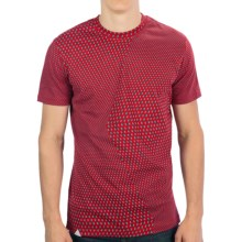 Altamont All-Over-Print Cotton T-Shirt - Short Sleeve (For Men) in Red Polka Dot - Closeouts