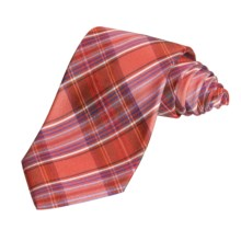 Altea Colorful Multi-Plaid Tie - Silk (For Men) in Red - Closeouts